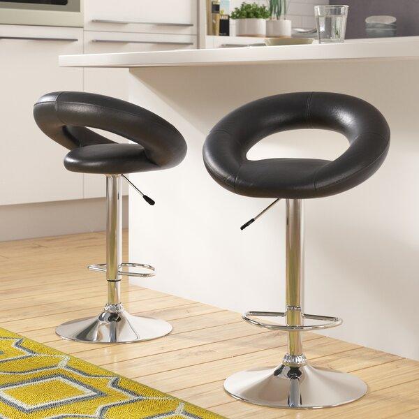 Wella 32'' Adjustable Height Swivel Bar Stool (Set of 2) by Zipcode Design