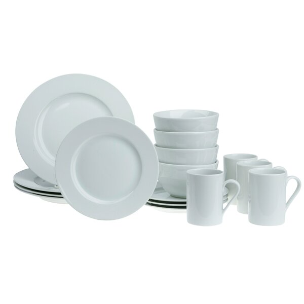Frome Round Rim 16 Piece Dinnerware Set, Service for 4 (Set of 16) by Charlton Home