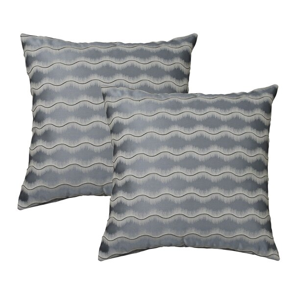 Waves Throw Pillow (Set of 2) by Marshall Home Garden