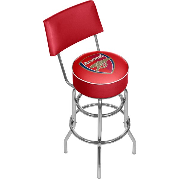 English Premier League 31 Swivel Bar Stool by Trademark Global