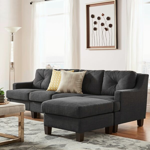 Doane Reversible Sectional with Ottoman by Brayden Studio