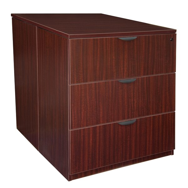 Linh Contemporary Stand Up Back to Back 3-Drawer Lateral Filing Cabinet