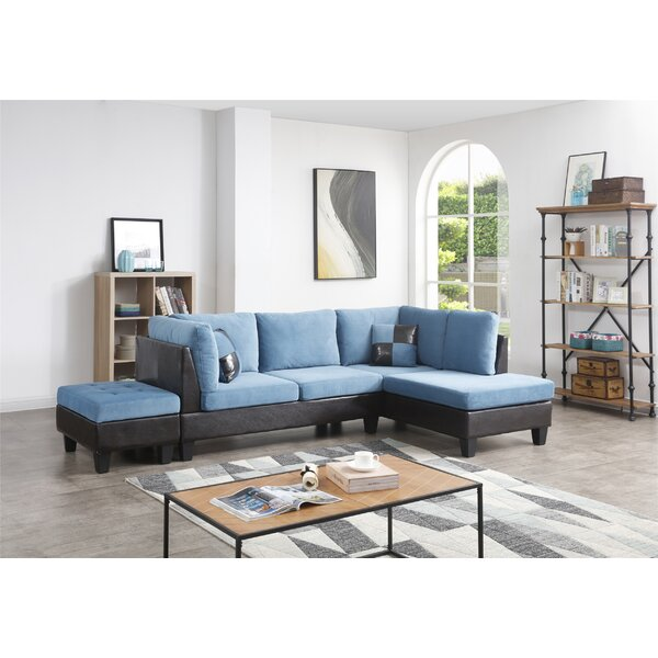Almus Reversible Sectional With Ottoman By Winston Porter