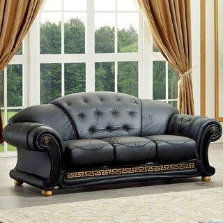 Alexzander Leather Sofa by Astoria Grand SKU:AE687505 Order