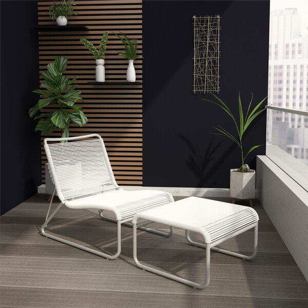 Lita Recliner Patio Chair and Ottoman by CosmoLiving by Cosmopolitan