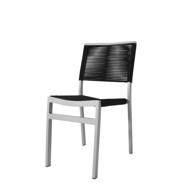 Fiji Rope Side Armless Stacking Patio Dining Chair by Source Contract
