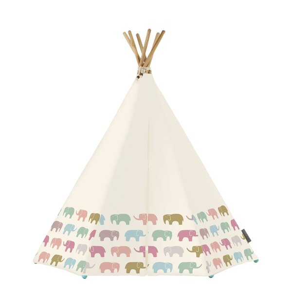Rainbow Elephant 3 Person Tent with LED and Mat by Around the Crib