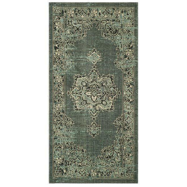 Vauxhall Light Green Area Rug  by Bloomsbury Market
