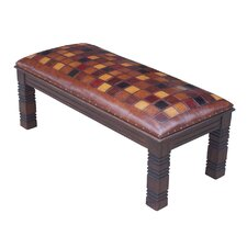 Catania Leather Bedroom Bench by New World Trading