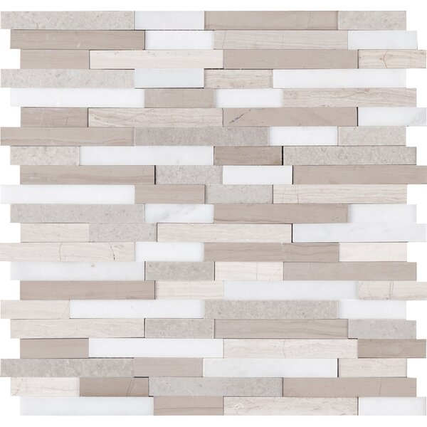 Artic Random Sized Marble Mosaic Tile in Gray by MSI