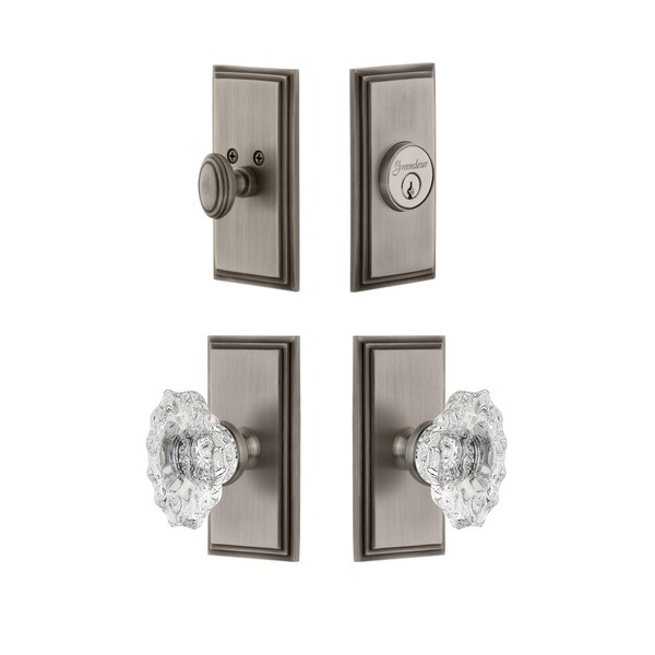 Carre Single Cylinder Knob Combo Pack with Biarritz Knob by Grandeur