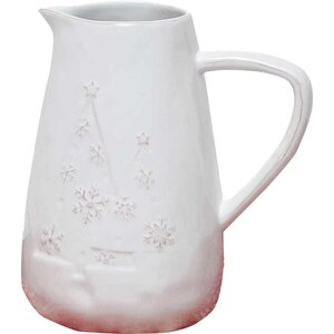Snowflake and Tree Pitcher
