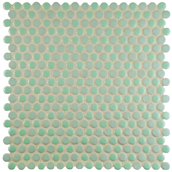 Astraea 0.62 x 0.62 Porcelain Mosaic Tile in Mint by EliteTile