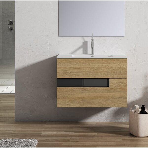 Malika 24 Wall-Mounted Single Bathroom Vanity Set