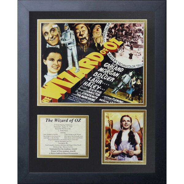 Wizard of Oz - Movie Art Framed Memorabili by Legends Never Die