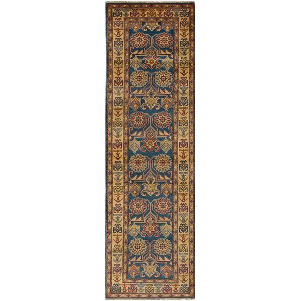 One-of-a-Kind Sely Hand-Knotted Wool Blue/Beige Area Rug by Isabelline