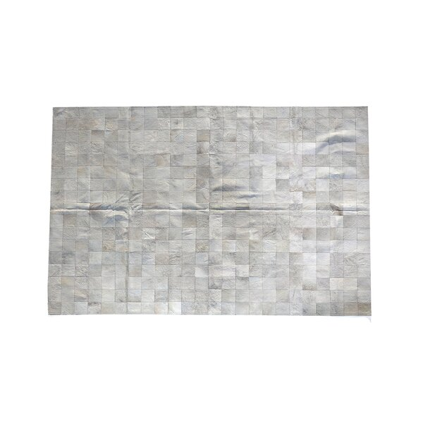One-of-a-Kind Coddington Natural Patchwork Cowhide Gray Area Rug by Foundry Select