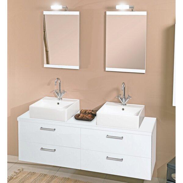 Aurora 60 Double Bathroom Vanity Set with Mirror by Iotti by Nameeks