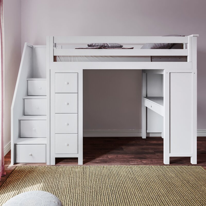 Harriet Bee Deshotel Twin Loft Bed With