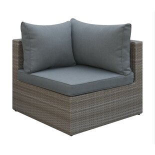 Basswood Outdoor Corner Chair with Cushion by A&J Homes Studio