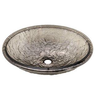 Clearance Glass Oval Undermount Bathroom Sink ByJSG Oceana