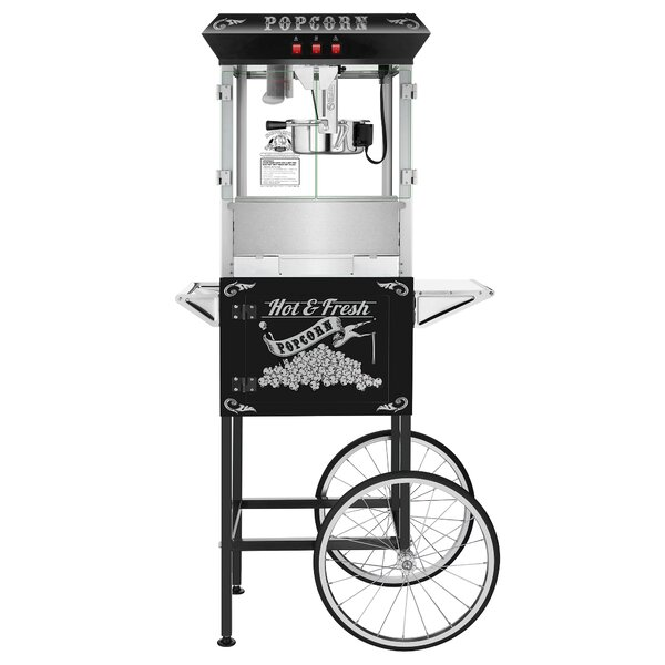 8 Oz. Hot and Fresh Popcorn Popper Machine with Cart by Superior Popcorn Company