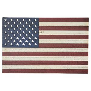 'U.S. Constitution American Flag' Graphic Art on Canvas by Three Posts