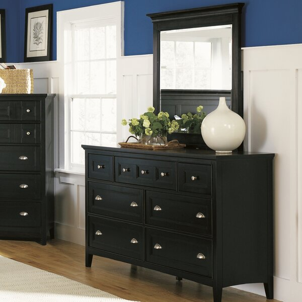 Janssen 7 Drawer Double Dresser with Mirror by Darby Home Co