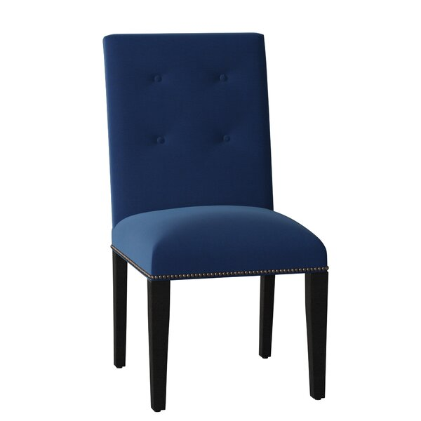 Button Back Upholstered Dining Chair by Sloane Whitney Sloane Whitney