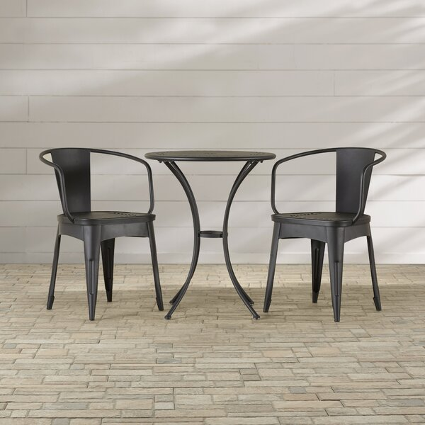Springmont Outdoor 3 Piece Bistro Set by Charlton Home