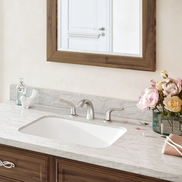 Premier Spot-Free All-Brite Widespread Bathroom Faucet with Drain Assembly and Snap Lock™ Installation Technology by Kraus