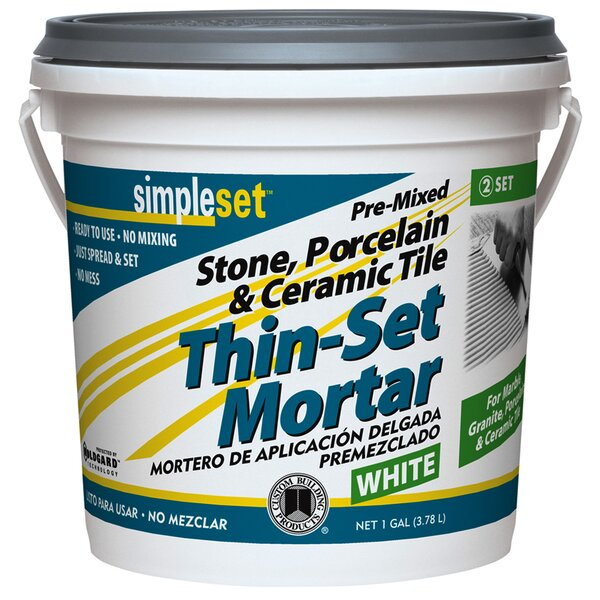 Pre-Mixed Tile & Stone Thin-Set Mortar by Custom B