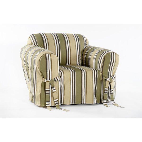 Cotton Duck Box Cushion Armchair Slipcover by Beachcrest Home