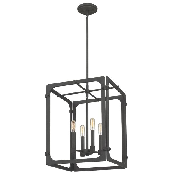 Dewey 4 - Light Candle Style Rectangle / Square Chandelier by Williston Forge Williston Forge