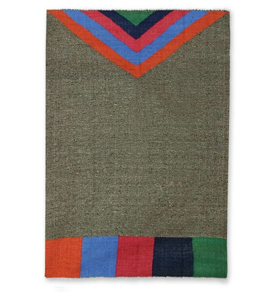 Hand Woven Wool Gray Area Rug by Novica