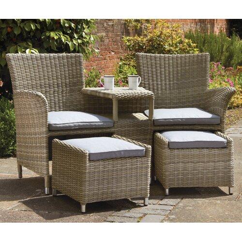 Swindon Rattan Love Seat Sol 72 Outdoor