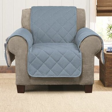 Denim Sherpa Box Cushion Armchair Slipcover by Sure Fit
