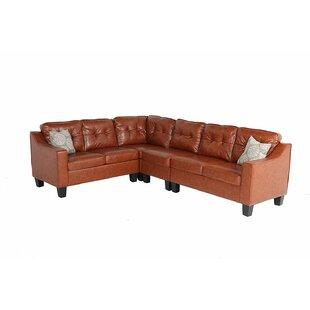 Alvarenga Upholstered Leather Sectional