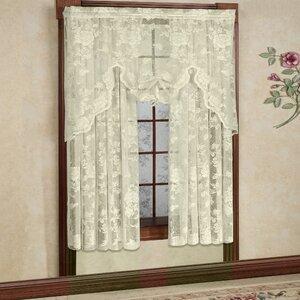 Floral Nature Semi-Sheer Rod Pocket Single Curtain Panel