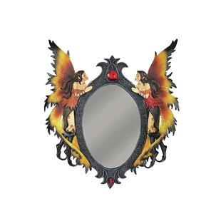 Design Toscano Twin Fairies Wall Sculptue Mirror
