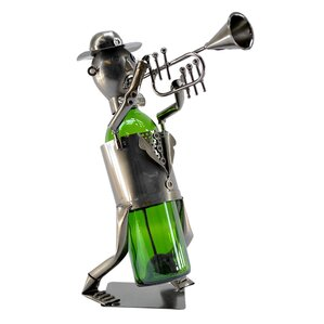 Trumpet Player 1 Bottle Tabletop Wine Rack by Three Star Im/Ex Inc.