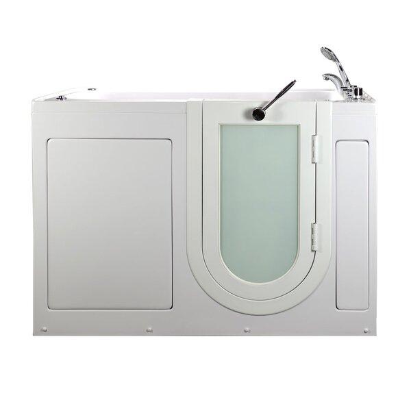 Lounger MicroBubble and Hydro Massage 59 x 26 Walk in Whirlpool Bathtub by Ella Walk In Baths