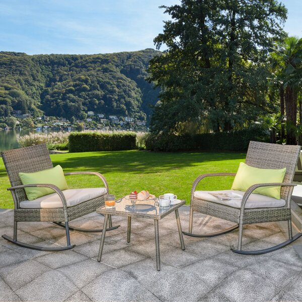 Nase 3 Piece Seating Group with Cushions by Ebern Designs