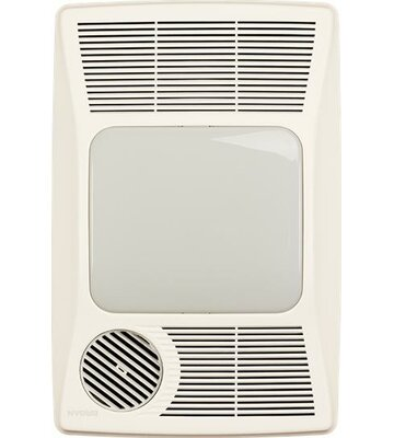 100 CFM Bathroom Fan with Heater and Fluorescent Light Broan