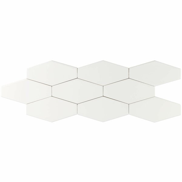 Birmingham 4 x 8 Ceramic Field Tile in Bianco by Splashback Tile