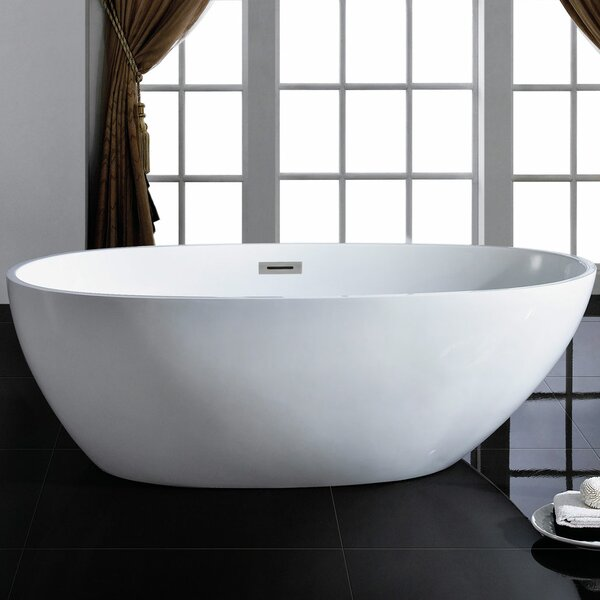 Cosmo 66 x 33 Soaking Bathtub by Pacific Collection