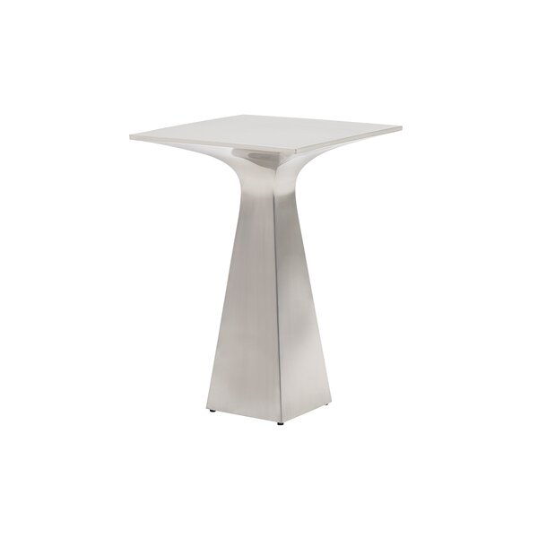 Kitano Sato Stainless Steel End Table by Lexington