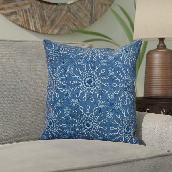 Wellington Tile Geometric Throw Pillow by World Menagerie