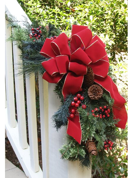 Holiday Pine and Berry Garland by Floral Home Decor