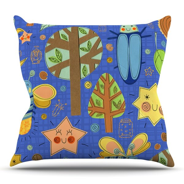 Lightning Bug by Jane Smith Outdoor Throw Pillow by East Urban Home